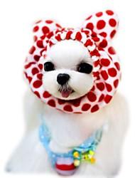 Коты Собаки Банданы и шляпы Одежда для собак Лето Весна/осень Матовый черный Милые Праздник Мода Кофейный Красный Розовый