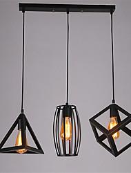 3 Heads Retro Pendant Lights Metal Dining Room Kitchen Bar Cafe DIY decoration lighting