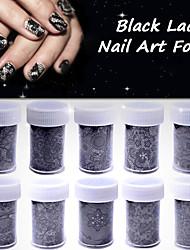 10pcs Nail Sticker Art Autocollant dentelle Maquillage cosmétique Nail Art Design