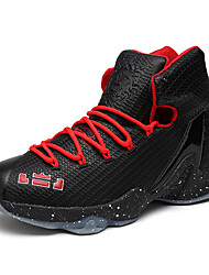 Men's Athletic Shoes Fall / Winter Comfort PU Athletic / Casual Flat Heel Lace-up Black / Blue / Red Basketball