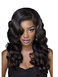 8A 8-30inch Glueless Lace Front Wigs water wave Natural Black Color Brazilian Human Hair Lace Wigs For Women