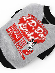 Dog Sweater Red / Black Dog Clothes Winter / Spring/Fall Letter & Number Cute / Casual/Daily / Keep Warm