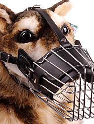 Cães Focinheiras Segurança / Treinamento Sólido Preto / Marrom / Colorido Pele Genuína / Aço Inoxidável