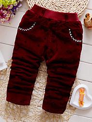 Menino Calças Esportivo Estampado Inverno / Outono Algodão