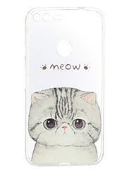 For Google Pixel XL Case Cover Cat Pattern Back Cover Soft TPU for Google Pixel