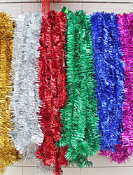 1PC 2 Meters Christmas Tinsel Garland Christmas Wedding Supplies Party Holiday Decorations(Random color)