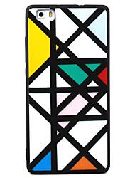 Pro huawei p8 p9 lingge vzor tpu materiál malovaný reliéf telefonní pouzdro pro p8 lite p9 lite y5ii honor5a honor8 mate7