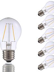 2W E26 Lâmpadas de Filamento de LED A17 2 COB 200 lm Branco Quente Regulável AC 110-130 V 6 pçs