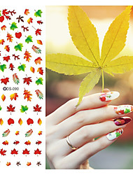 1pcst Water Transfer Nails Art Sticker Flower Leaf Nail Wraps Watermark Nail Decals