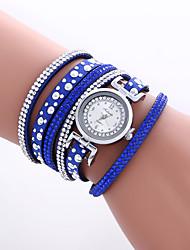 Женские Модные часы Наручные часы Часы-браслет Цветной Кварцевый PU Группа Винтаж Heart Shape Богемные Кольцеобразный Cool Повседневная