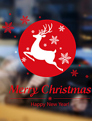 Wall Stickers Wall Decals Style Christmas Deer PVC Wall Stickers