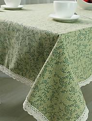 Quadrada Padrão / Floral Toalhas de Mesa , Mistura de Algodão Material Hotel Mesa de Jantar / Tabela Dceoration
