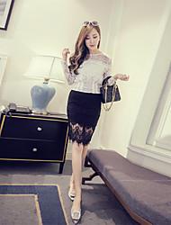 signe 2016 été nouvelles femmes coréennes dentelle jupe jupes jupe femmes