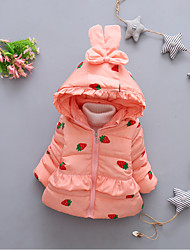 Girl Casual/Daily / Holiday / School Patchwork / Jacquard Down & Cotton Padded,Cotton / Cotton Blend Winter / Fall Long Sleeve