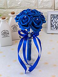 Свадебные цветы Круглый Розы Букеты Свадьба Атлас Эластичный атлас Поролон Около 15 см