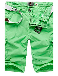 Men's Loose Shorts Pants,Casual/Daily Simple Solid Mid Rise Zipper Polyester Micro-elastic Summer