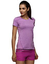 Laufen T-shirt Damen Kurze Ärmel Atmungsaktiv / Rasche Trocknung / Komfortabel Elastan / ChinlonYoga / Camping & Wandern / Übung &