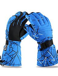 лыжные перчатки Зимние Муж. Спортивные перчатки Сохраняет тепло / Анти-скольжение / Водонепроницаемый / СнегозащитныйКатание на лыжах /