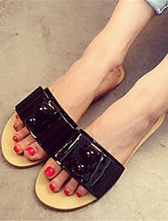 Women's Slippers & Flip-Flops Summer Others PU Casual Flat Heel Others Black / Pink / White Others