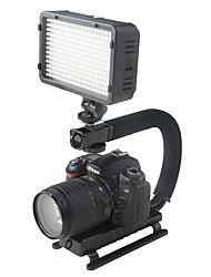 yelangu la forma de C titular de soporte de flash de vídeo agarre estabilizador de mano para SLR DSLR cámara mini dv