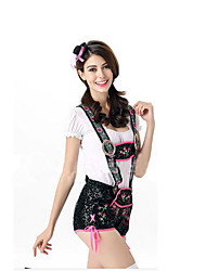 Festival/Holiday Halloween Costumes White & Black Jacquard Top / Pants / Hats Halloween / Christmas / Carnival Female