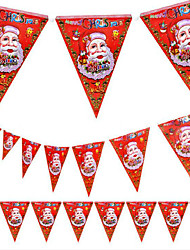 5pcs noël fanion conception de noël magasin de centre commercial de décoration de père noël 8 visage drapeau
