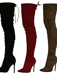 Women's Boots Winter Heels / Fashion Boots / Pointed Toe Fabric Party & Evening / Dress / Casual Stiletto