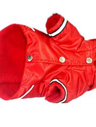 Chat Chien Pulls à capuche Vêtements pour Chien Mignon Uni Rouge