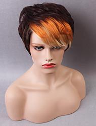 новейший поступление прохладный короткий монолитным парики естественные прямые человеческие волосы