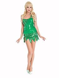 Princesse Conte de Fée Fête / Célébration Déguisement d'Halloween Vert Imprimé Robe AilesHalloween Noël Carnaval Le Jour des enfants