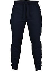Hombre Delgado Pantalones de Deporte Pantalones,Un Color Deportes Activo Tiro Medio Correa Algodón / Poliéster Micro-elástica All Seasons