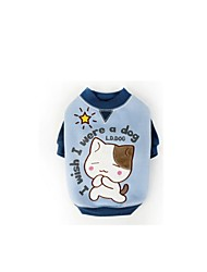 Hunde T-shirt Hundekleidung Winter Tier Lässig/Alltäglich Rot Blau Hellblau