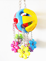 Multi-Color Portable Plastic Metal Bird Toys 1pc