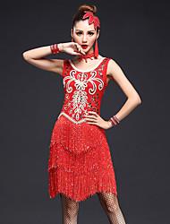 Devrions-nous des robes de danse latines Femmes performance 4 pièces robe