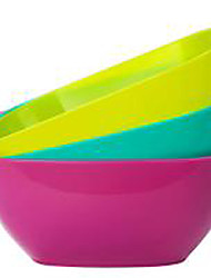 Food Grade Plastic Square Plate  Fruit Dish of Melon Seeds  Small Snacks  Candy Dish  Fruit Bowl  (Random Colour)