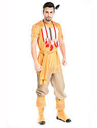 Soldier/Warrior Festival/Holiday Costumes Top / Pants / Belt / Headwear / Leg Warmers Male Polyester