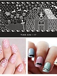 1шт маникюр шаблон печати ногтей прямоугольная пластина
