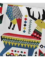 Christmas Tablecloth Deer Bear Cotton Canvas Fabric Decoration Cloth Cartoon Animals