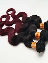 3 Pièces Ondulation naturelle Tissages de cheveux humains Cheveux Indiens 0.3kg 8-30 inch Extensions de cheveux humains