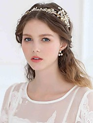 Women's Rhinestone / Alloy / Imitation Pearl Headpiece-Wedding / Special OccasionTiaras / Headbands / Flowers / Wreaths / Head Chain /