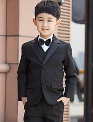 Serge Ring Bearer Suit - Five-piece Suit Pieces Includes  Jacket / Shirt / Vest / Pants / Bow Tie