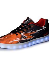 Unisexe-Extérieure / Décontracté / Sport-Marron-Talon Plat-Nouveauté / Confort-Sneakers-Similicuir / Tissu