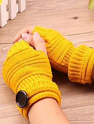 geométricas botões Vestuário feminino Comprimento de pulso metade do dedo bonito / partido / casuais moda inverno luvas quentes
