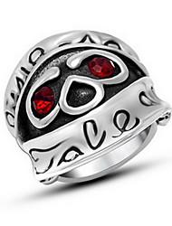 Ringe Imitation Diamant Halloween Schmuck Titanstahl Herren Bandringe / Ring 1 Stück,7 / 8 / 9 / 10 / 11 / 12 Silber
