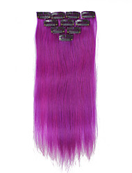 10 Clips 14Inch 10Pcs Clip In Human Hair Extensions 32g Ombre Highlighted Straight Hair