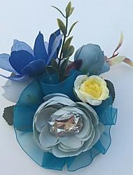 Fleurs de mariage Roses Boutonnières Mariage La Fête / soirée Satin Strass