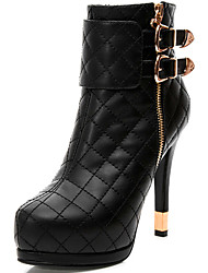 Women's Boots Spring / Fall / Winter Gladiator Synthetic Office & Career / Party & Evening / Dress / Casual Stiletto Heel Black
