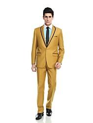 Terno(Amarelo,Polyester / Rayon (T / R) / Viscose / Lã e poliéster,2 Peças)Moderno