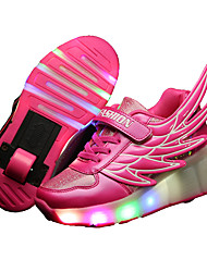 LED Light Up Shoes, Kid Boy Girl Wheely's Roller Shoes / Ultra-light Single Wheel Skating Shoes / Athletic / Casual Shoes with Wings