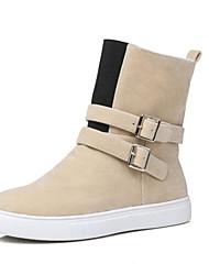 Women's Boots Spring Fall Winter Platform Comfort Fleece Customized Materials Office & Career Dress Casual Flat Heel OthersBlack Yellow